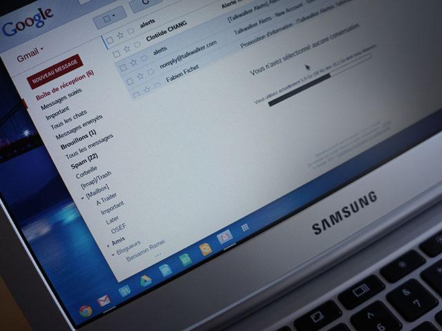Chrome OS : Gmail dans une fenêtre