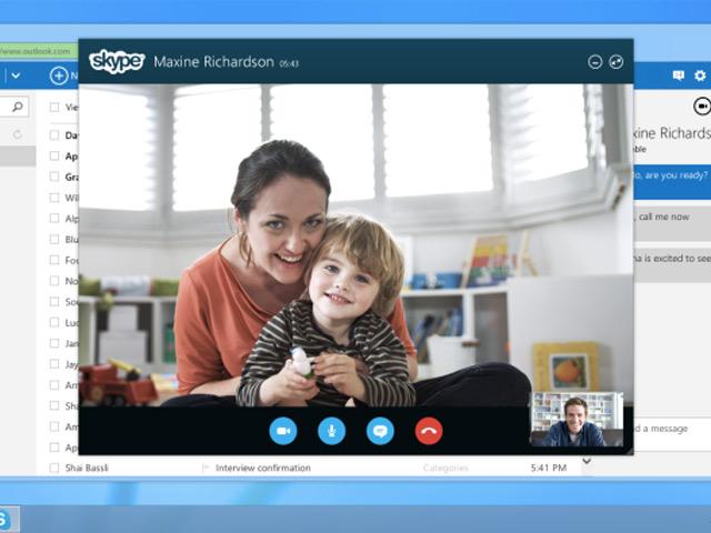 Skype dans Outlook.com