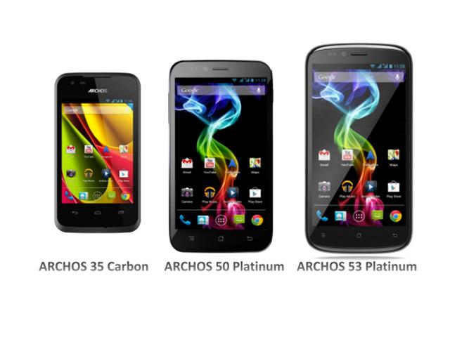Archos : trois smartphones