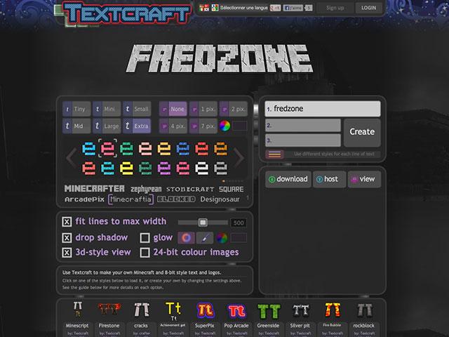 TextCraft, générateur Minecraft