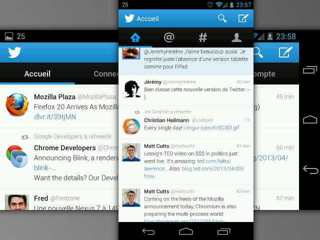 Twitter dans le style Holo UI