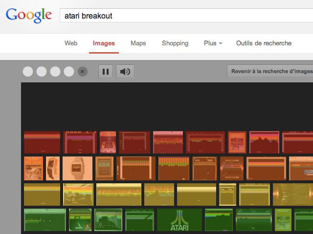 Atari Breakout dans Google Images
