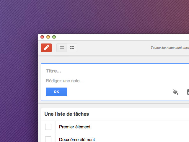 Google Keep : une application pour Chrome
