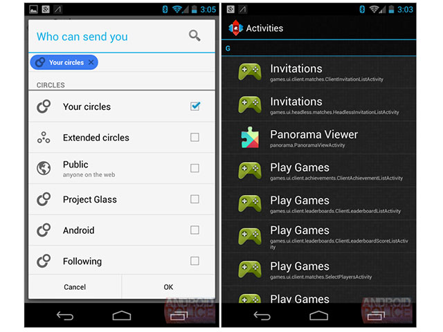 Google Play Games : une capture de l'application mobile