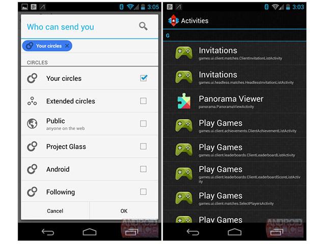 Google Play Games : une capture de l'application mobile