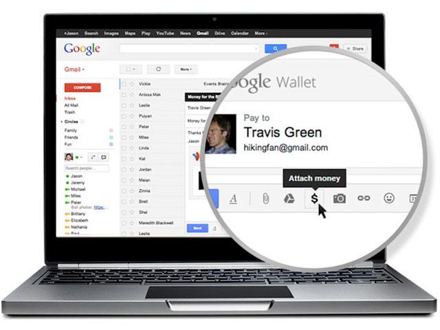 Google Wallet dans Gmail