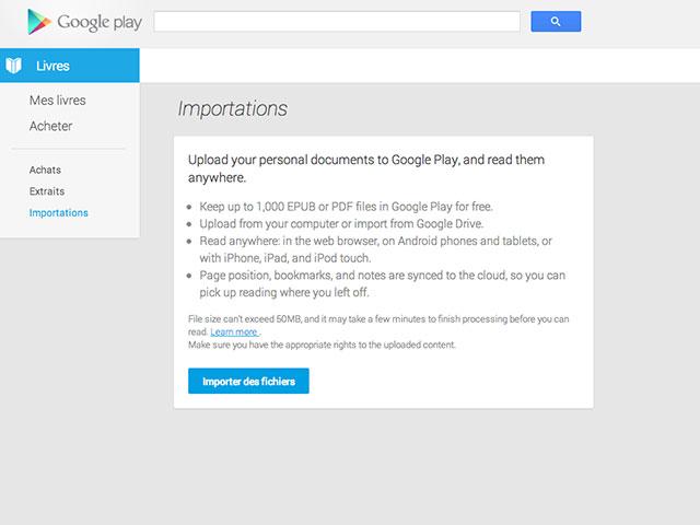 Import Google Play Books