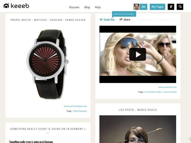 Keeeb : le partage de contenu