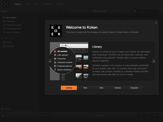 Koken : une première capture pour l'interface