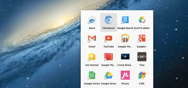 Lanceur applications Chromium OS X
