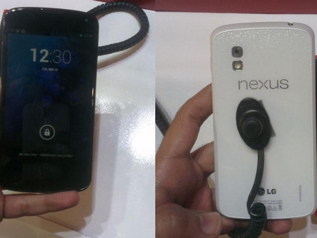 Nexus 4 blanc : une nouvelle première image