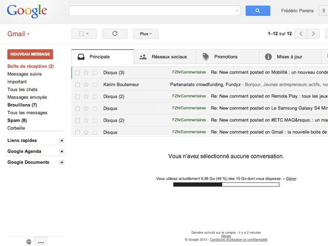 Gmail : les nouveaux filtres