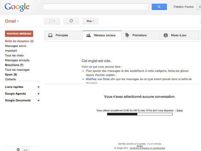 Gmail : pas d'automatisation