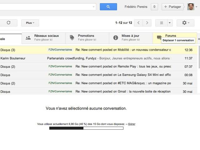 Gmail : l'organisation manuelle