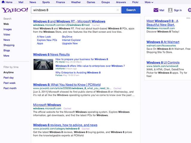 Nouveau Yahoo Search
