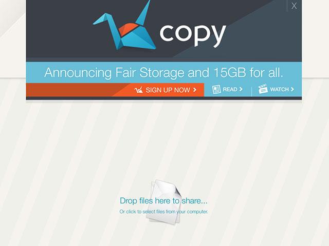 Copy : 15 Go d'espace offert
