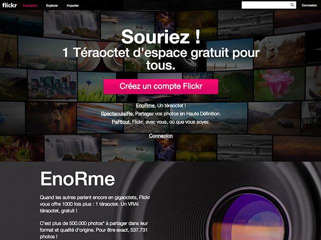 Flickr : une nouvelle page d'accueil