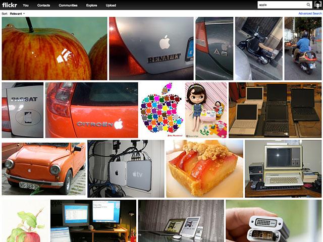 Flickr : la nouvelle recherche