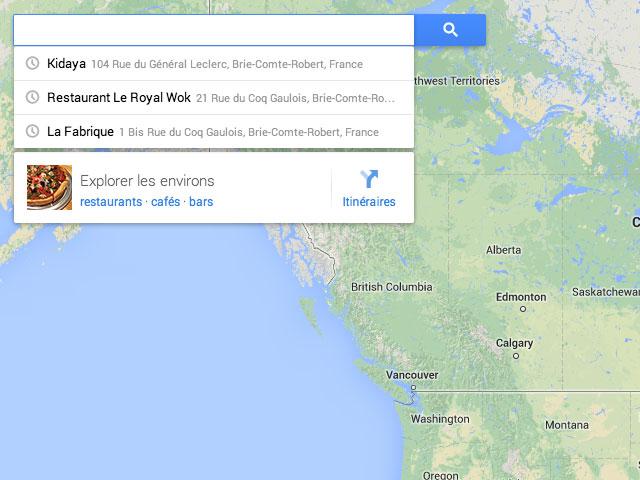 Nouvelle version Google Maps : une première capture