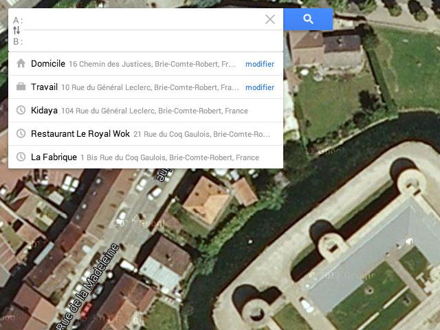 Google Maps : la création de l'itinéraire