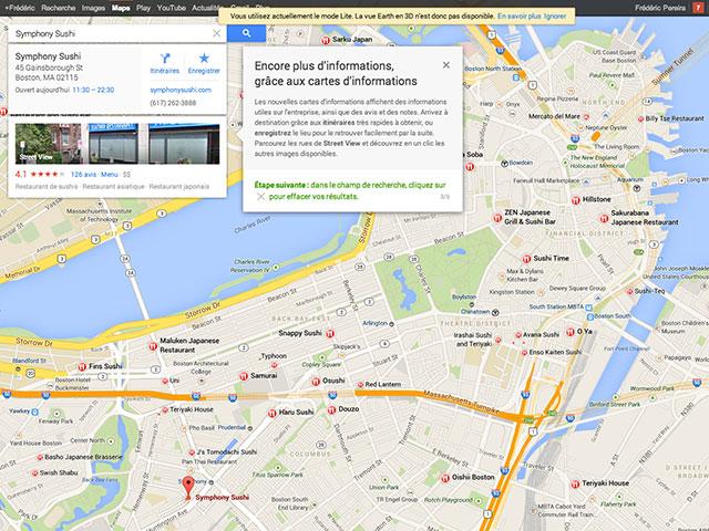 Google Maps : les informations d'un lieu