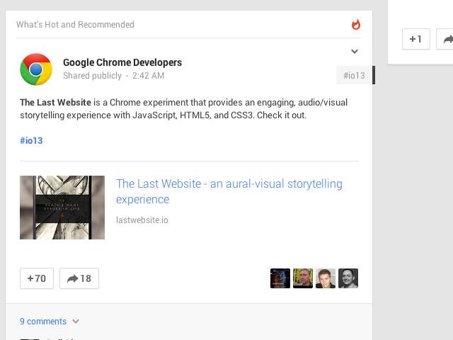 Google+ : une seconde image pour la présentation du contenu
