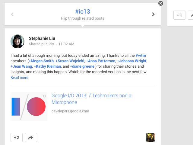 Google+ : une troisième image pour la présentation du contenu