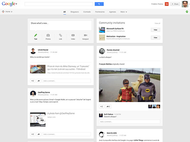 Google+ : une seconde vue globale