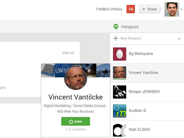 Google+ : une première image pour les Hangouts
