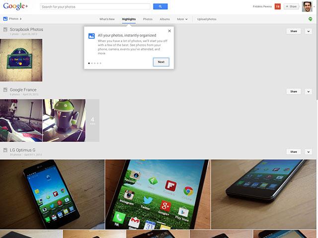 Google+ : une première image pour les photos