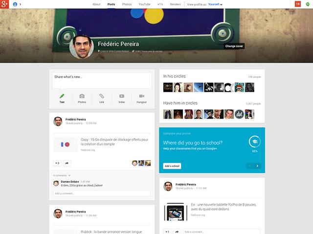 Google+ : une image pour les profils