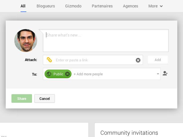 Google+ : une seconde image pour la publication de contenu