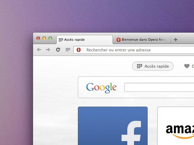 Opera Next : une nouvelle interface très agréable