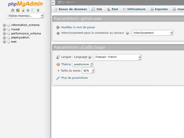 phpMyAdmin 4.0