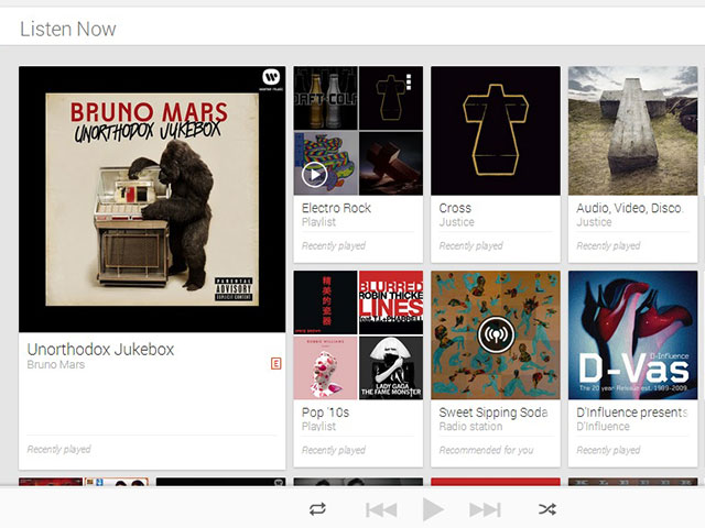 Google Play Music All Access : une quatrième capture