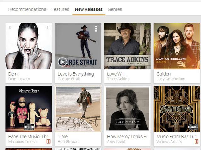 Google Play Music All Access : une cinquième capture