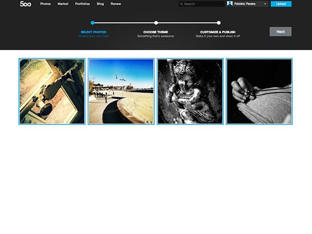 Portfolios 500px : le choix des photos