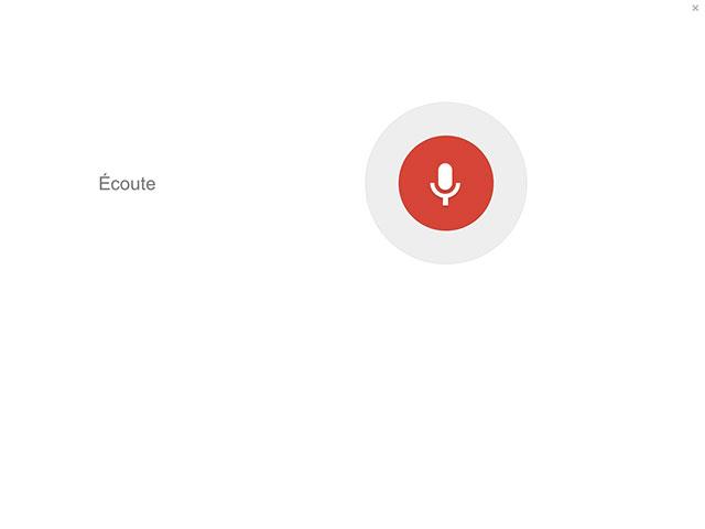 Google : nouvelle recherche vocale