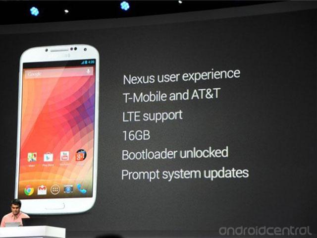 """Samsung Galaxy S4 """"Google Edition"""""""