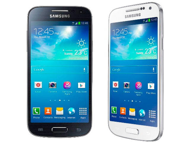 Samsung Galaxy S4 Mini : en blanc et en noir
