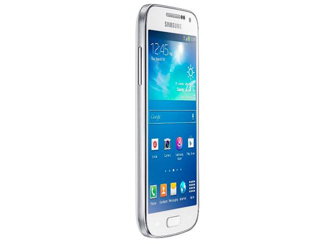Samsung Galaxy S4 Mini : vue de trois quart