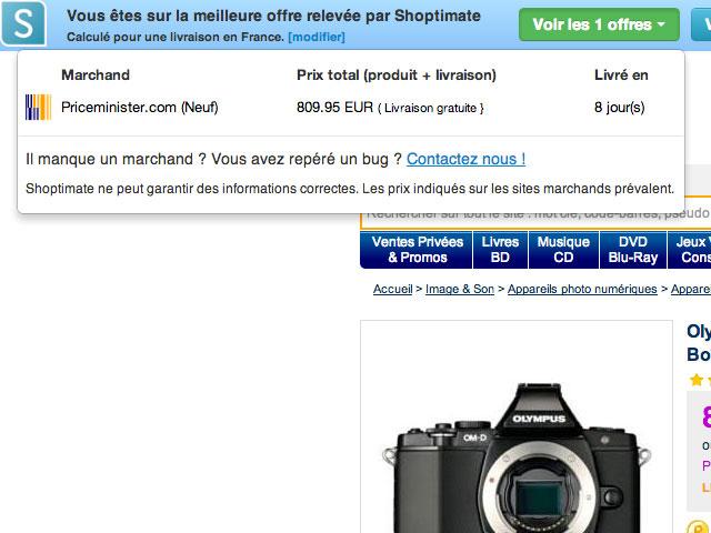 Shoptimate, un comparateur de prix dans le navigateur