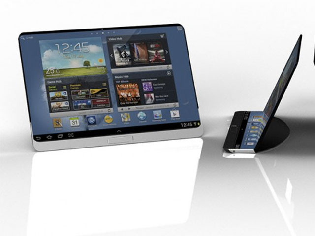 samsung un concept de tablette tactile en image. Black Bedroom Furniture Sets. Home Design Ideas
