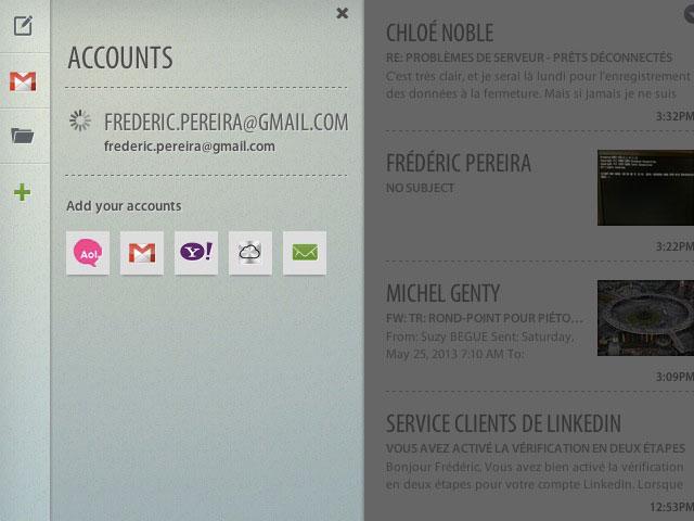 Altomail : l'ajout de comptes