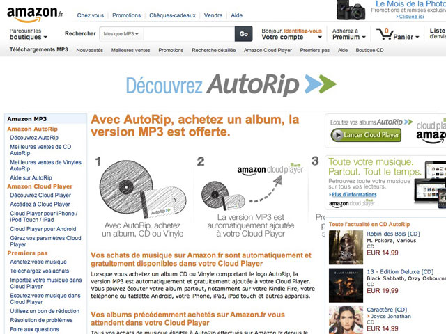 AutoRip Amazon France
