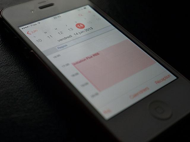 Calendrier iOS 7