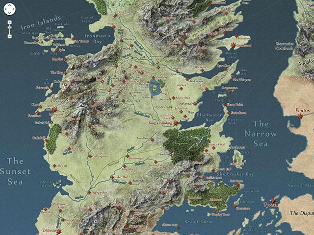 Carte interactive Westeros
