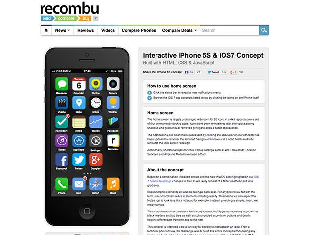 iPhone 5S HTML CSS JavaScript