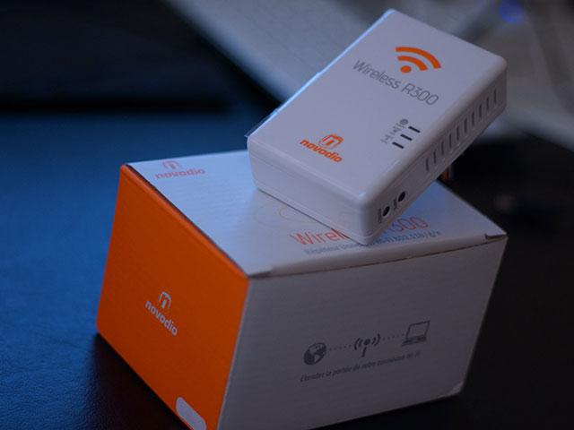 Novodio Wireless R300 : le boitier, sur sa boite