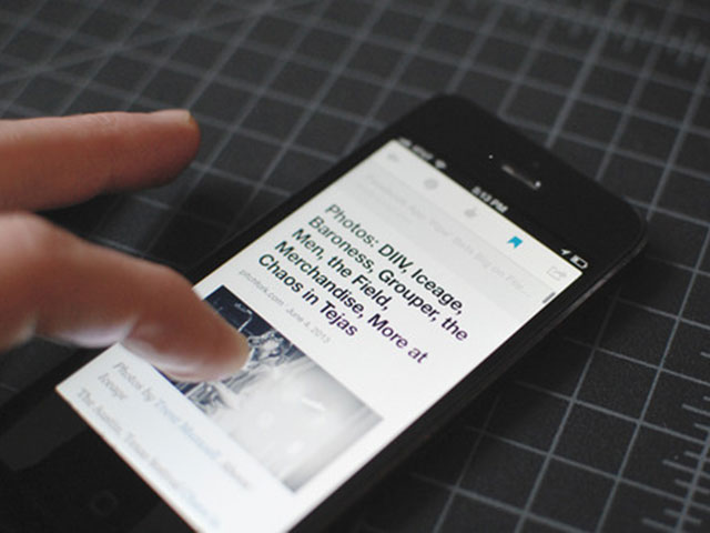 Digg Reader : aperçu de l'application iPhone